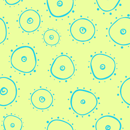 coalition: Light seamless pattern with bacterium  Yellow background Illustration