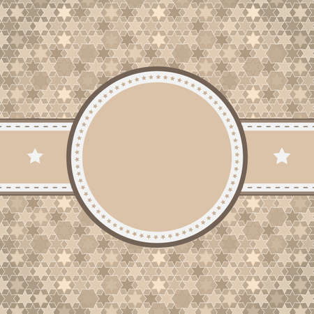 rounded retro vintage label on starry background Stock Vector - 16912239