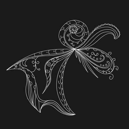 squiggles: Flourish background black and white colored
