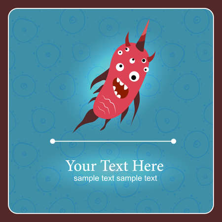Fantastic monster background with place for text Stock Vector - 17112988