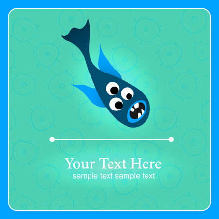 Fantastic monster background with place for text Stock Vector - 17112995
