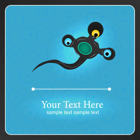 Fantastic monster background with place for text Stock Vector - 17112992