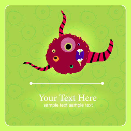 Fantastic monster background with place for text Vector