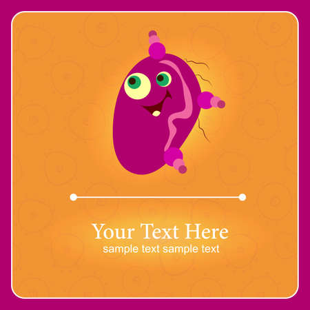 prokaryote: Fantastic monster background with place for text