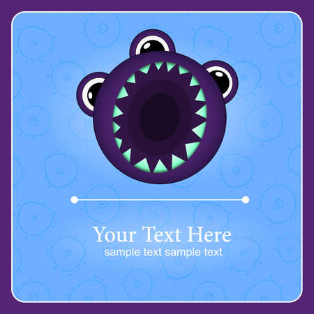 Fantastic monster background with place for text