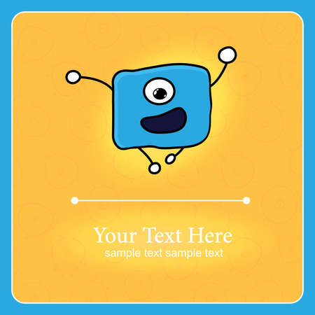 prokaryote: Fantastic monster vector background with place for text