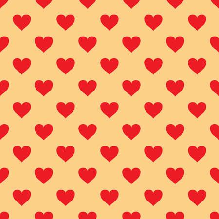 biege: seamless pattern with valentine hearts on biege