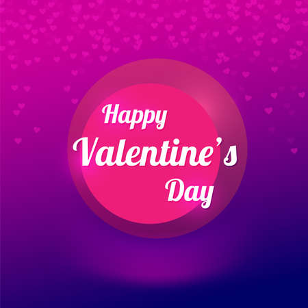 vector background with blurry hearts, illustration Vector