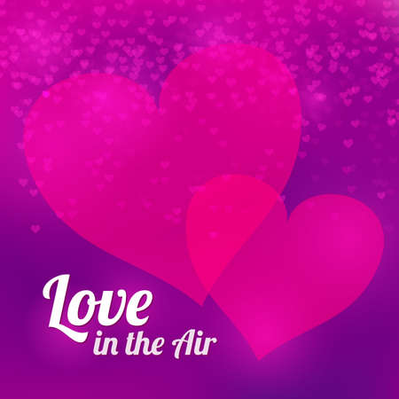 vector background with blurry hearts  Valentine s Day illustration Vector