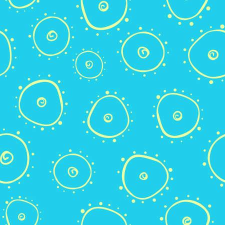 prokaryote: Light seamless pattern with bacterium.