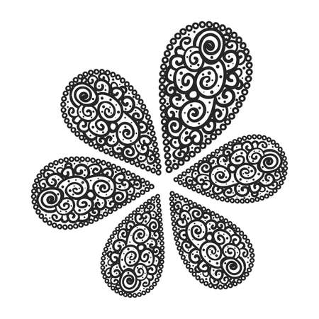 flourish background black and white colored Vector