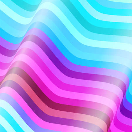 bright colors: Abstract colorful waves  background Illustration