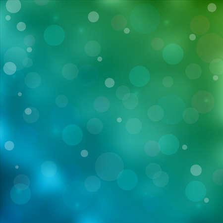 emerald green bokeh light background.  Illustration