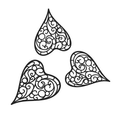 henna design: florecer fondo negro y de color blanco Vectores
