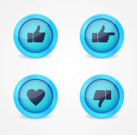 Set of glossy internet icons icons Vector