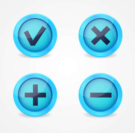 Set of glossy icons  icons collection Vector