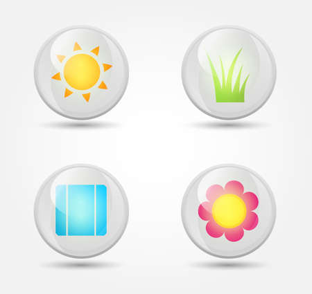 Vector set of glossy icons Stock Vector - 18291846