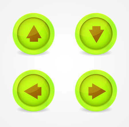Set of glossy icons with arrows. Vector icons collection Stock Vector - 18291903