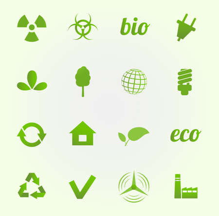 Environment vector icons set Vector