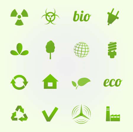 Environment vector icons set Stock Vector - 18291962