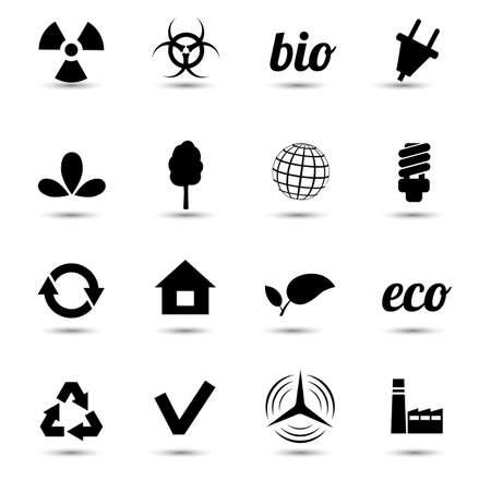 Environment vector icons set Stock Vector - 18291979