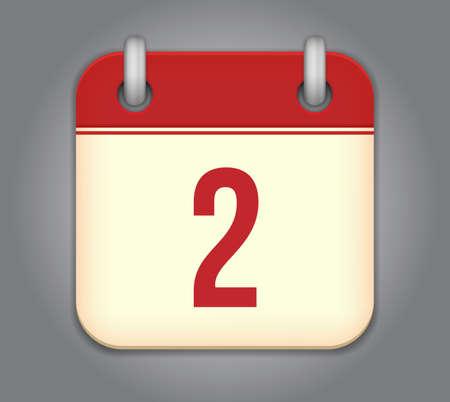calendar app icon Stock Vector - 18349553