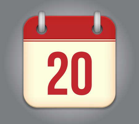 calendar app icon Stock Vector - 18349590