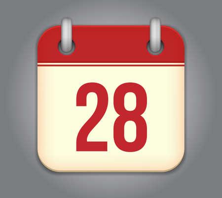 calendar app icon Stock Vector - 18349551