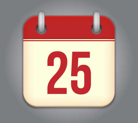 calendar app icon Stock Vector - 18349531