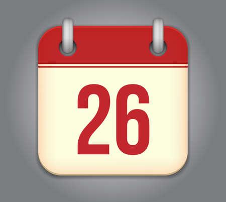 calendar app icon Ilustrace