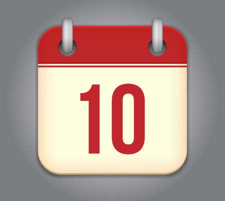 calendar app icon Stock Vector - 18349587