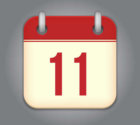 number 11:  calendar app icon Illustration