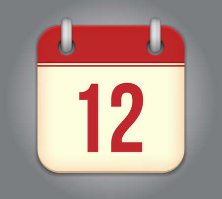 calendar app icon Stock Vector - 18349516