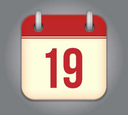 calendar app icon Stock Vector - 18349588