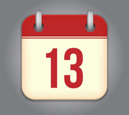 calendar app icon Stock Vector - 18349580