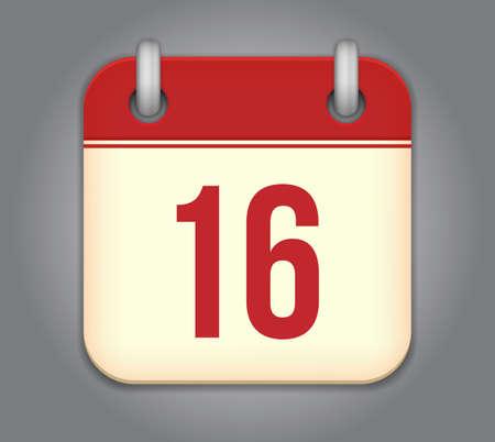 calendar app icon Stock Vector - 18349522