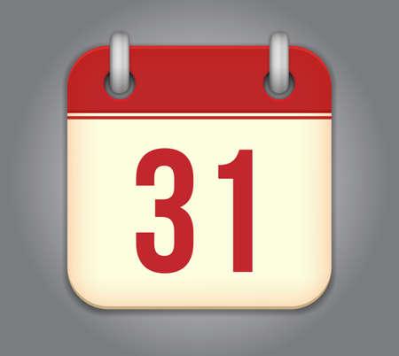 calendar app icon Stock Vector - 18349529