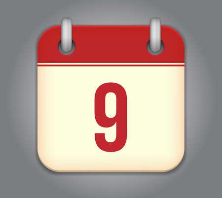 calendar app icon Stock Vector - 18349502