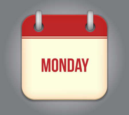weekday: Vector calendar app icon