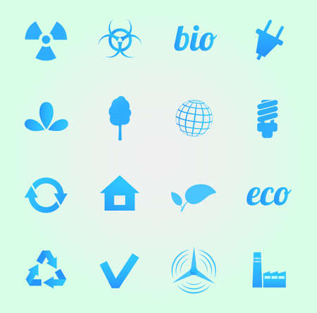 Environment vector icons set Stock Photo - 18534145