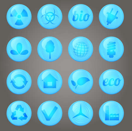 Environment vector glossy icons set Stock Photo - 18534245