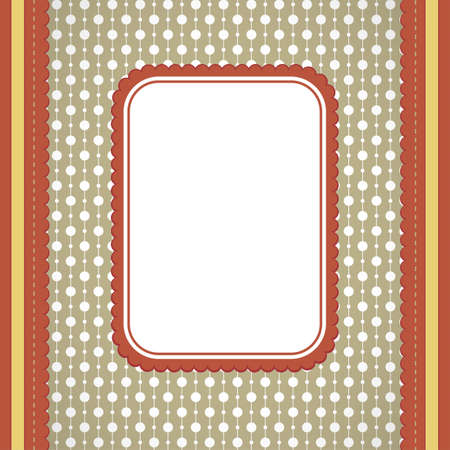brown background: Vector squared label on artistic background