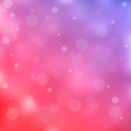 Pink colored bokeh light background. Vector illustration Vector