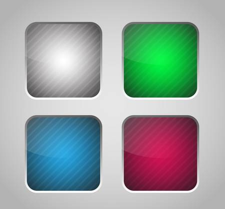 4 color glossy icons. Vector design elements Stock Vector - 18563109