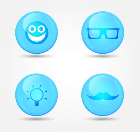 Set of glossy internet icons. Vector icons Stock Vector - 18573141
