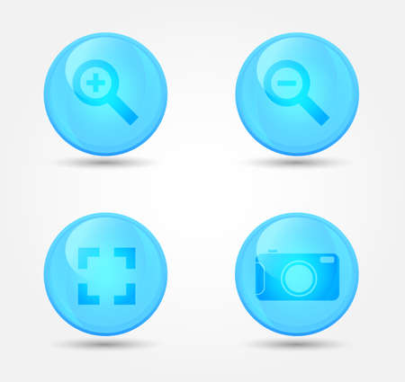 Set of glossy image browser icons. Vector icons Stock Vector - 18573140