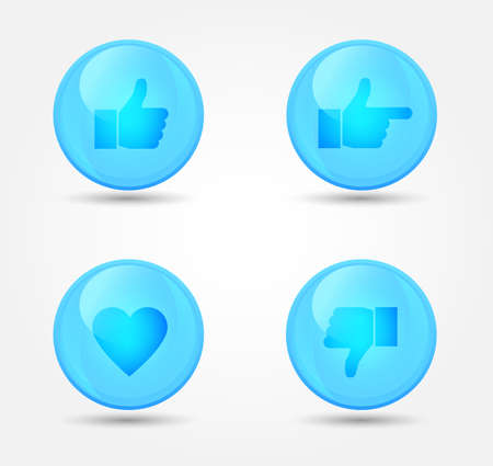 Set of glossy internet icons. Vector icons Vector