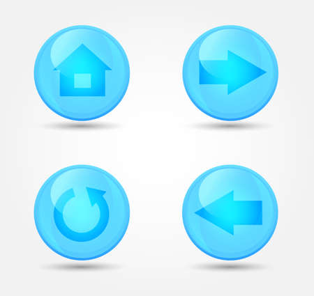 Set of glossy browser icons. Vector icons Vector