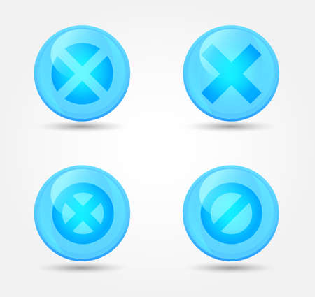 Set of glossy prohibitory icons. Vector icons Vector