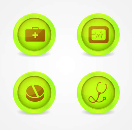 Vector set of medical icons on white background Stock Vector - 18573283